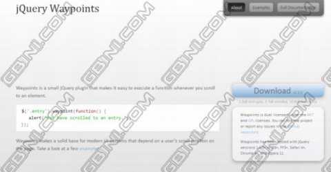 分享9个单页面网站开发必备jQuery插件