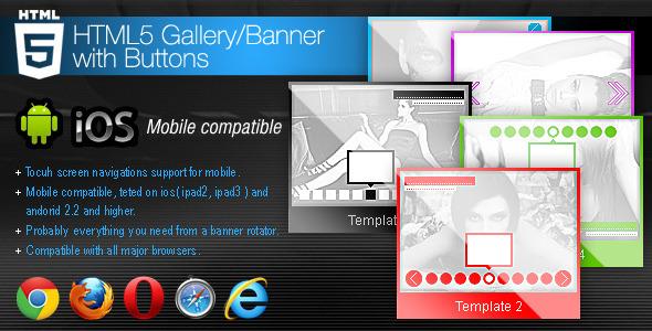HTML5画廊/带按钮的banner轮换