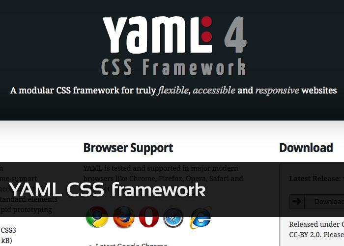 YAML CSS Framework强大的响应式模板框架