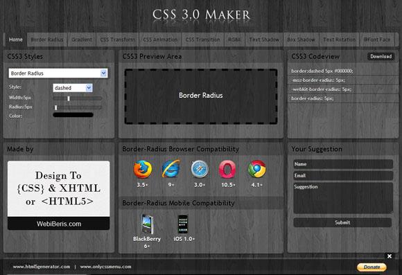 css3可视化在线设计网站