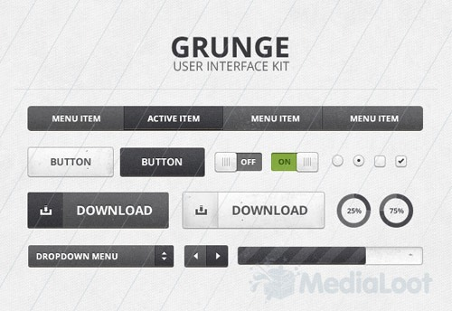 Subtle Grunge UI Kit