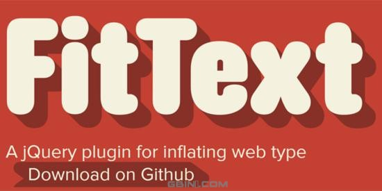 FitText -- jQuery plugin for inflating web type