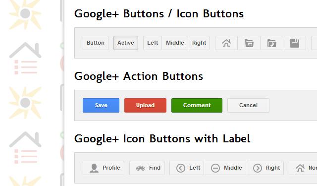 Google+ UI Buttons – 谷歌风格的交互按钮