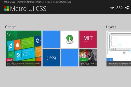 Metro UI CSS – win8风格界面的css框架