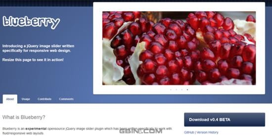 Blueberry – A responsive jQuery image slider