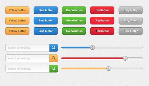 Multi-Coloured UI Elements