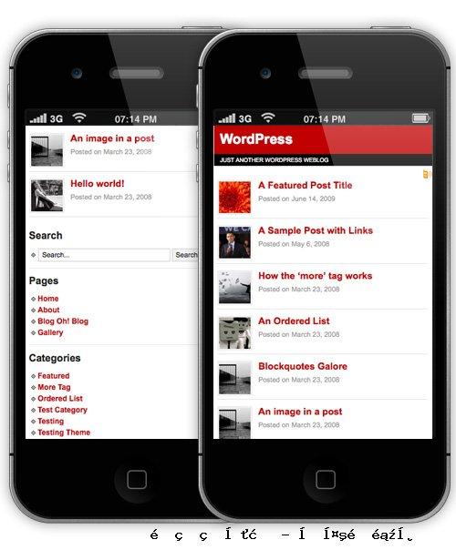 WordPress的手机主题