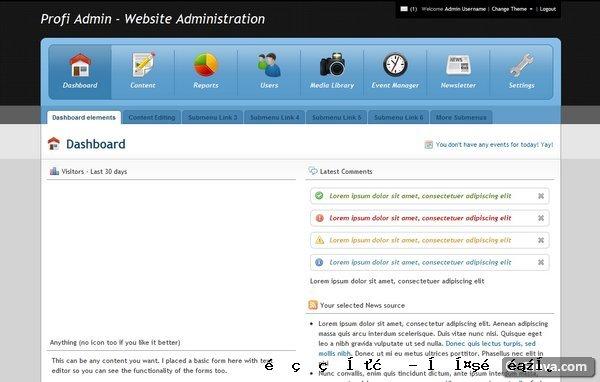 管理网站模板4