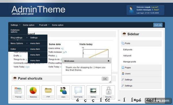 管理网站模板6