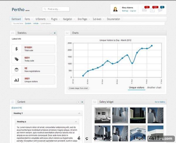 管理网站模板24
