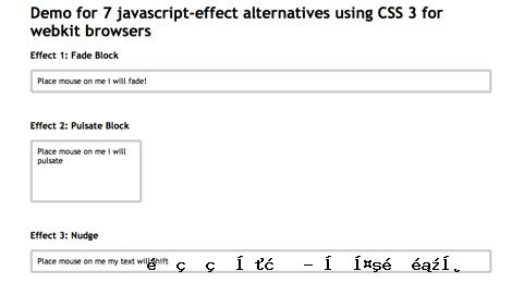 JavaScript的效果替代品