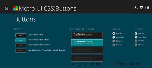 Metro UI的CSS