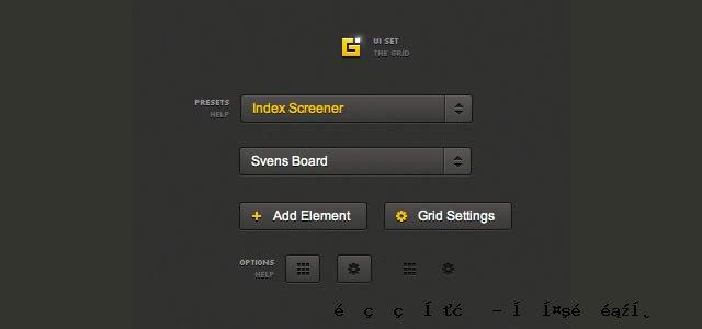 CSS网格UI设置