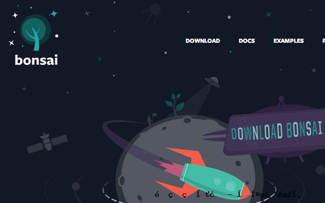 Bonsai.js JavaScript代码的网站布局矢量图形