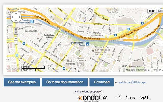 谷歌地图的JavaScript库脚本